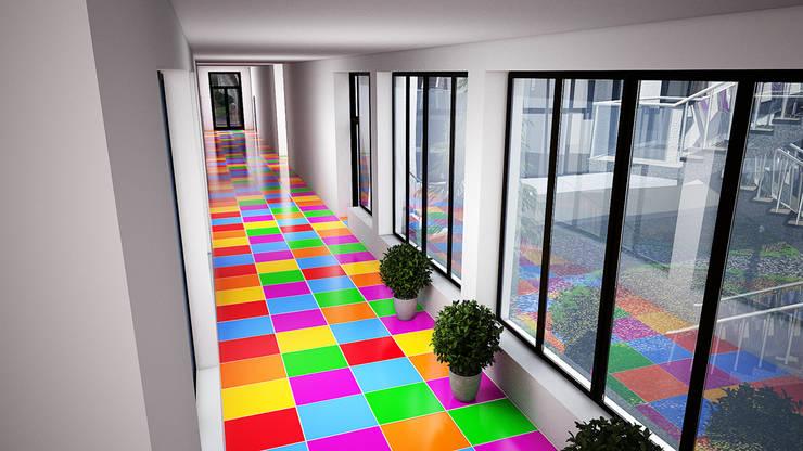 Corridor & hallway by Дизайн студия Александра Скирды ВЕРСАЛЬПРОЕКТ, Eclectic