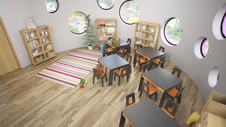 Nursery/kid's room by Дизайн студия Александра Скирды ВЕРСАЛЬПРОЕКТ, Eclectic