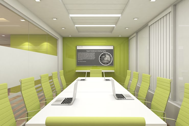 CONFERENCE ROOM:  Walls by De Panache  - Interior Architects