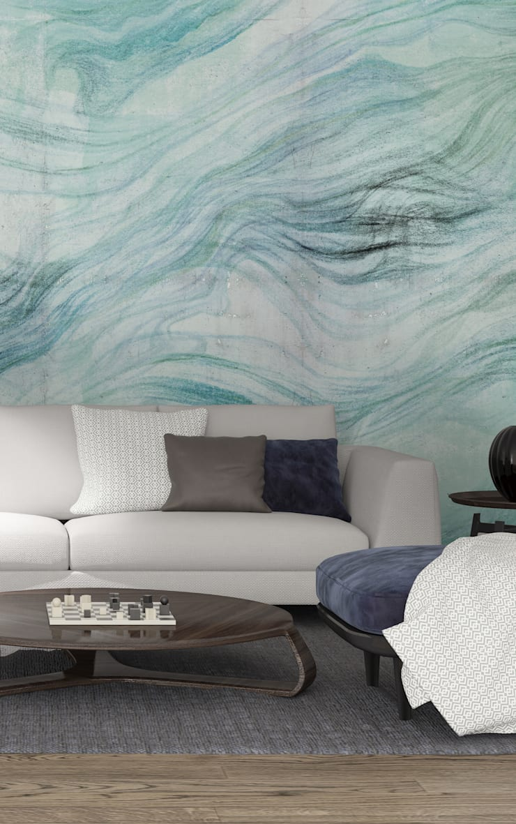 HF090-Big Waves: Casa  por House Frame Wallpaper & Fabrics