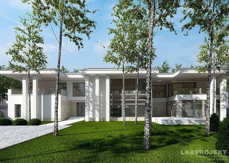 LK&1048: styl , w kategorii Domy zaprojektowany przez LK & Projekt Sp. z o.o.