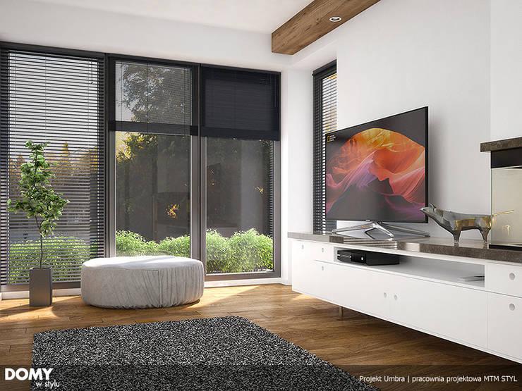 Wizualizacja wętrza projektu domu Umbra: styl , w kategorii Salon zaprojektowany przez Biuro Projektów MTM Styl - domywstylu.pl
