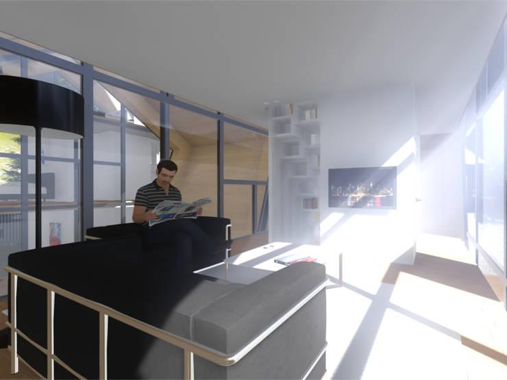 Interior - Sala de estar:   por Arq. Duarte Carvalho