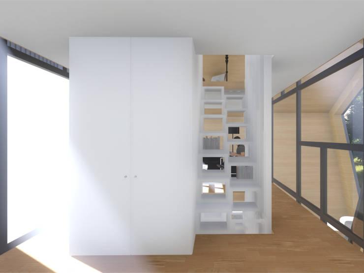 Interior - Pormenor das escadas:   por Arq. Duarte Carvalho