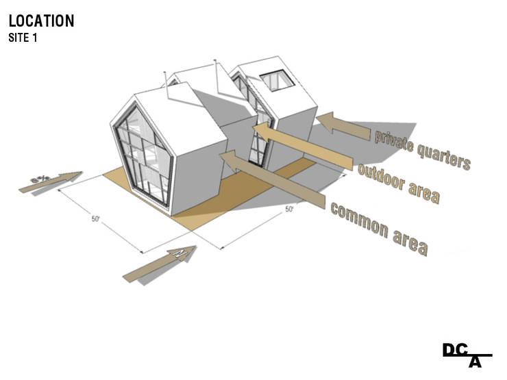 Esquema 2 - Localização e distribuição programática:   por Arq. Duarte Carvalho