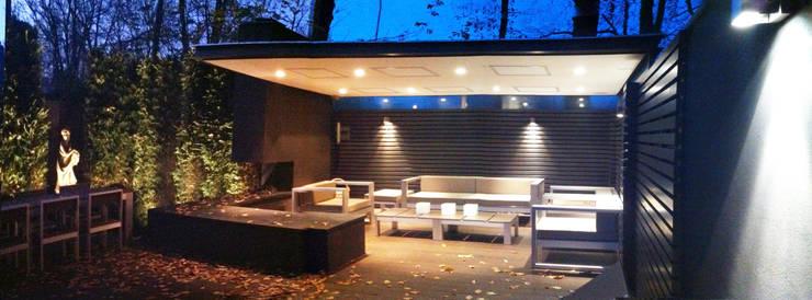 avond terras buitenloft:  Terras door Arend Groenewegen Architect BNA