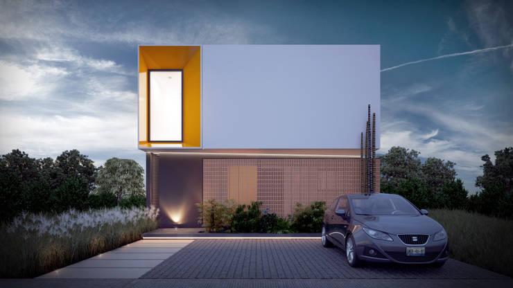 Fachada Frontal: Casas de estilo  por Taller Tres