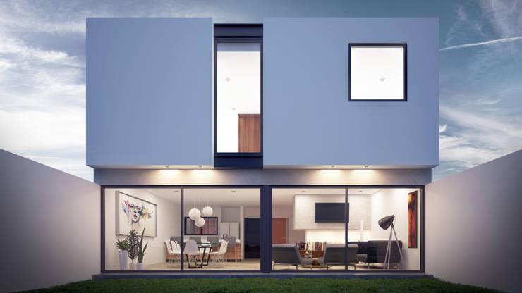 Fachada Posterior: Casas de estilo  por Taller Tres
