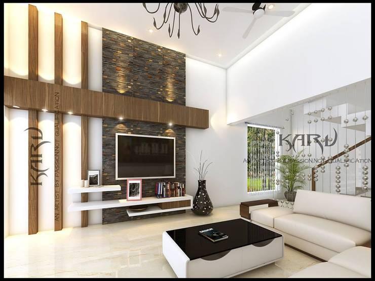 Salas / recibidores de estilo  por KARU AN ARTIST