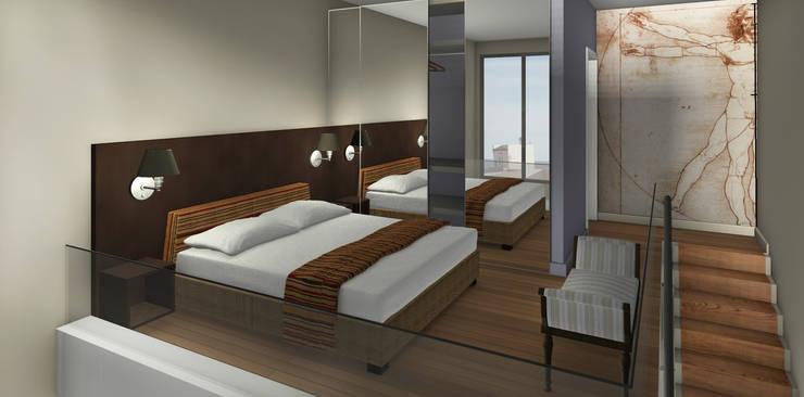 Proyecto edificio residencial: Dormitorios de estilo  por CaB Estudio de Arquitectura