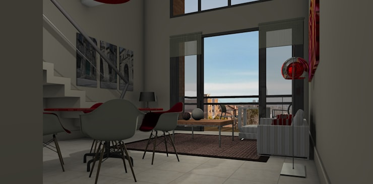 Proyecto edificio residencial: Comedores de estilo  por CaB Estudio de Arquitectura