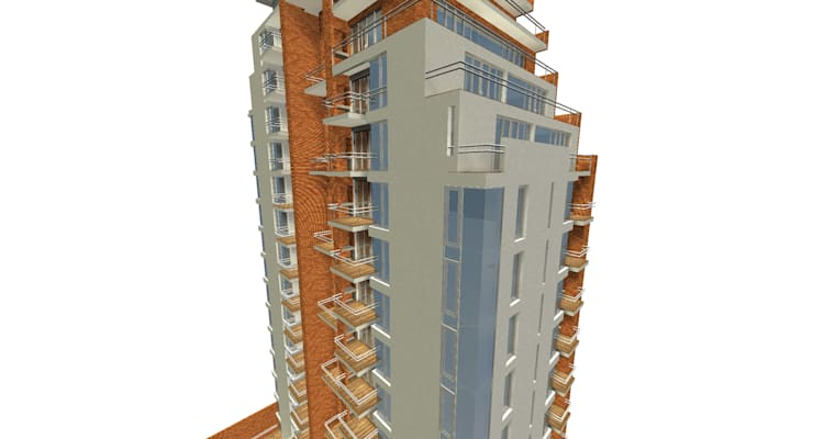 Proyecto edificio residencial: Casas de estilo  por CaB Estudio de Arquitectura