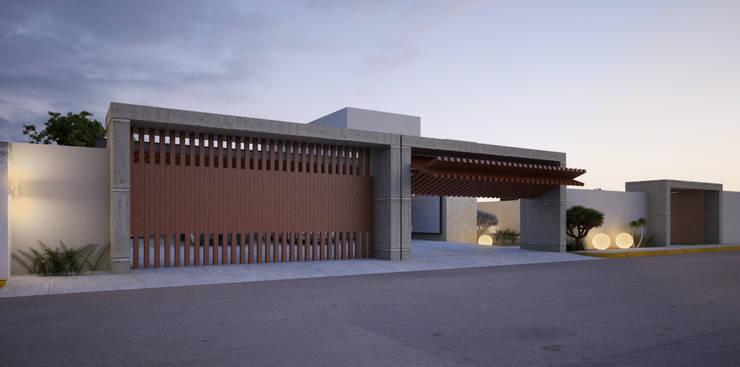 Portón de madera: Casas de estilo  por AParquitectos