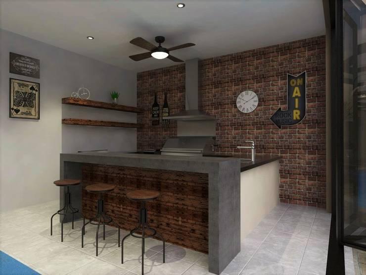 Terraza:  de estilo  por casa.nova interiorismo