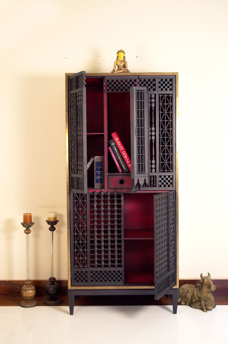 Story Teller, the bookcase: asian  by KNOCK ON WOOD,Asian Wood Wood effect