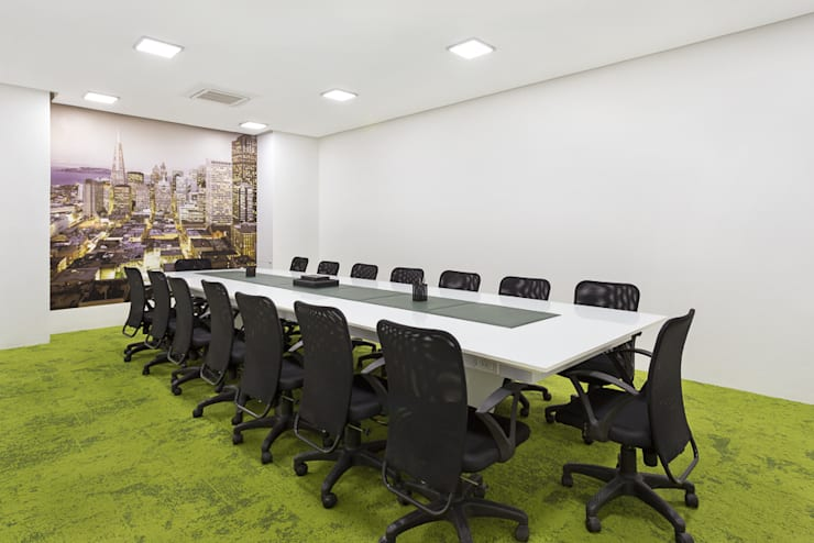 Interior design for an Office:  Study/office by Deodhar Associates,