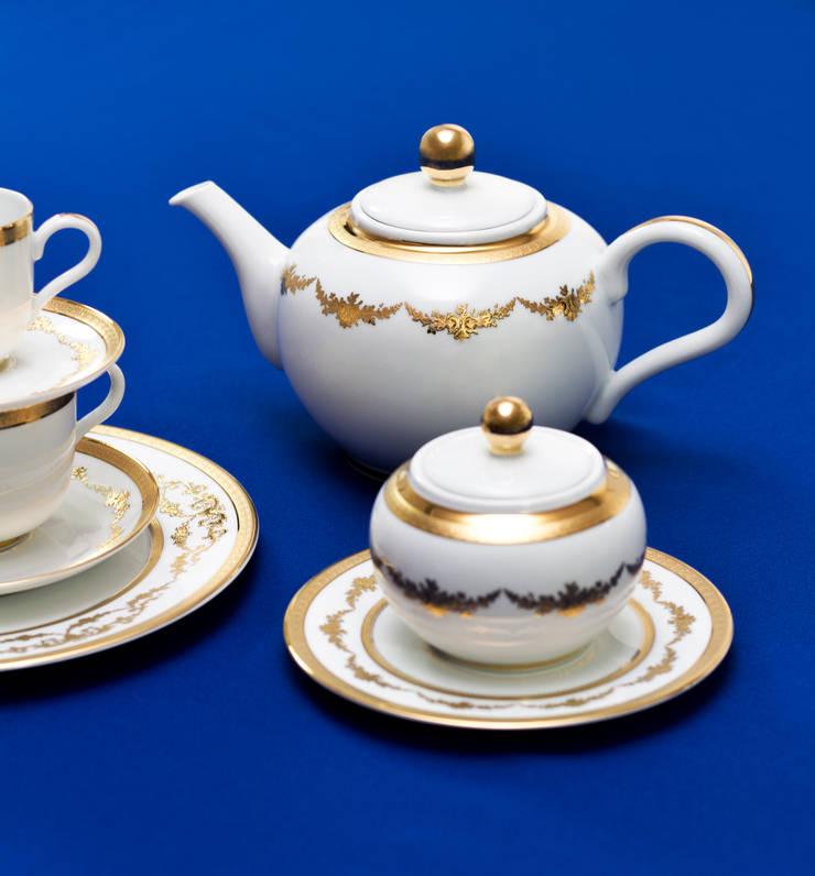 Imperio Gold: Cozinha  por Porcel - Indústria Portuguesa de Porcelanas, S.A.
