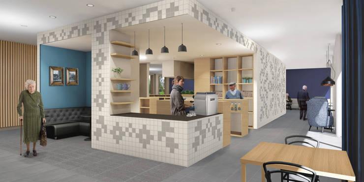 Koffiebar woonzorgcentrum de Veldstraat:  Gastronomie door INZIGHT architecture, Modern