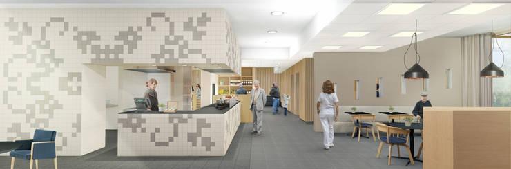 Keuken en restaurant de Veldstraat:  Gastronomie door INZIGHT architecture, Modern