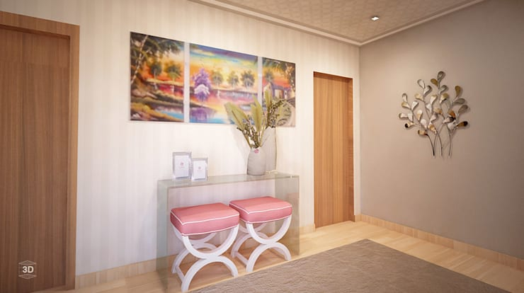 Pasillos y hall de entrada de estilo  por GRAÇA Decoração de Interiores