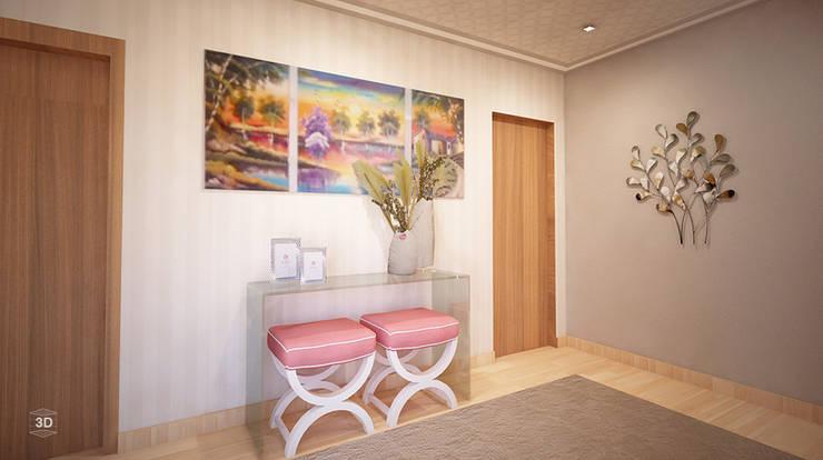 Pasillos y recibidores de estilo  por GRAÇA Decoração de Interiores