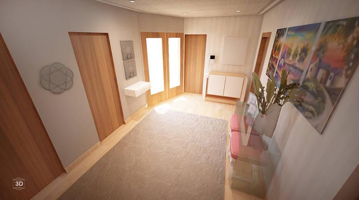Pasillos y vestíbulos de estilo  de GRAÇA Decoração de Interiores, Moderno