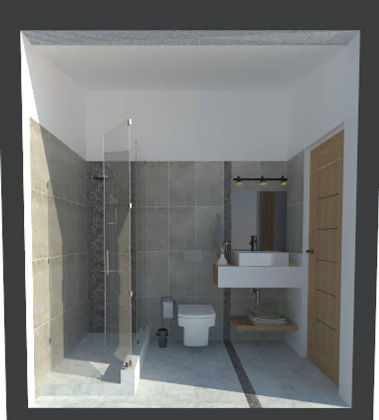 Ampliación y reforma vivienda S|M: Baños de estilo  por ARQ. María Florencia Fernández