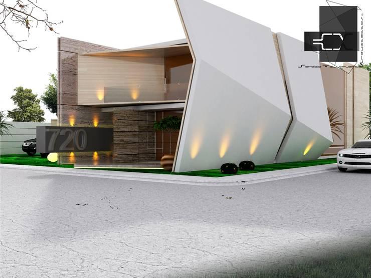 RESIDENCIA DB; PACHUCA HIDALGO, MÉXICO: Casas de estilo  por Sergio Villafuerte -ARQUITECTOS-