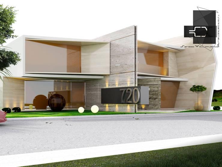 RESIDENCIA DB: Casas de estilo  por Sergio Villafuerte -ARQUITECTOS-
