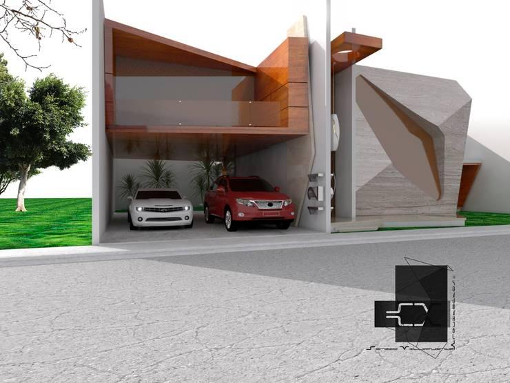 RESIDENCIA MITCHELLE: Casas de estilo  por Sergio Villafuerte -ARQUITECTOS-