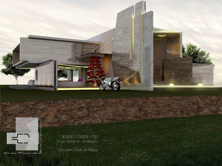 RESIDENCIA MIRÓ: Casas de estilo  por Sergio Villafuerte -ARQUITECTOS-