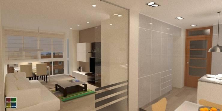 Living room by Estudio Arquitectura Ricardo Pérez Asin