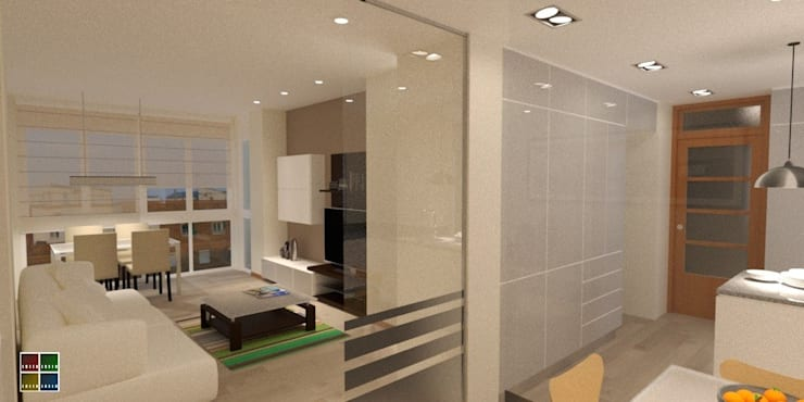 modern Living room by Estudio Arquitectura Ricardo Pérez Asin