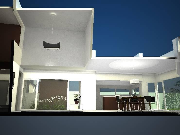 CORTE LONGITUDINAL: Casas de estilo  por Eugenio Tschaggeny  Arquitectura - Decoración - Ambientaciones.