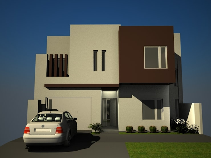 FACHADA PRINCIPAL: Casas de estilo  por Eugenio Tschaggeny  Arquitectura - Decoración - Ambientaciones.