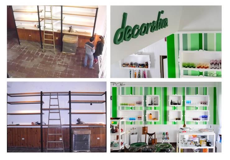 Local Comercial DECORATIVA ESPERANZA:  de estilo  por Eugenio Tschaggeny  Arquitectura - Decoración - Ambientaciones.,