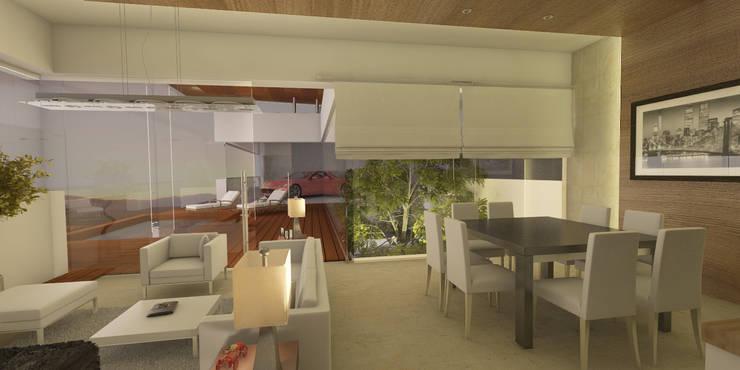 Interior: Salas de estilo  por AParquitectos