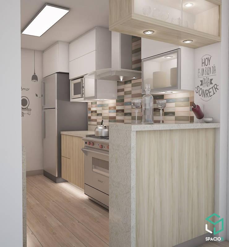 Cocina Sofisticada: Cocinas de estilo  por Spacio5, Moderno