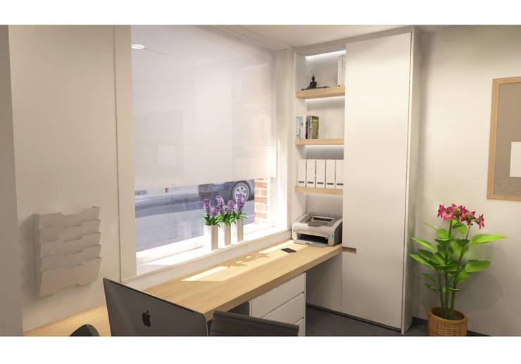 Bureau:  Kantoor- & winkelruimten door AD MORE design, Modern MDF