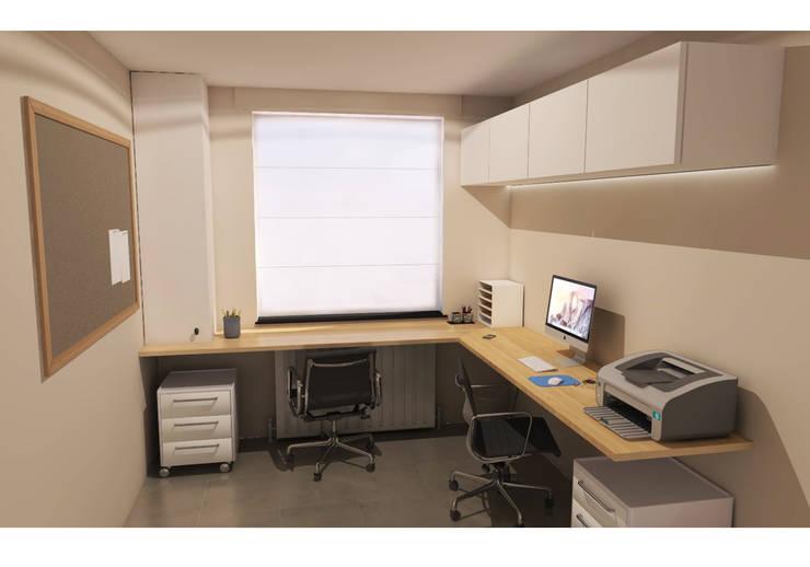 Bureau:  Kantoor- & winkelruimten door AD MORE design, Modern