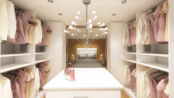 Schlafzimmer mit begehbarem Kleiderschrank von DÖRR planen+ ...