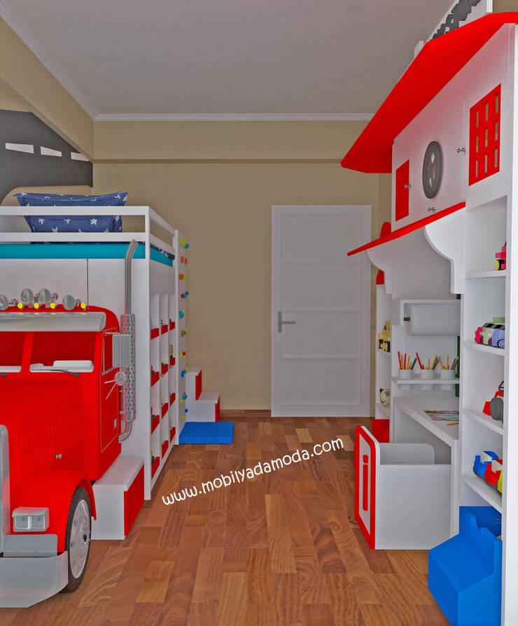 MOBİLYADA MODA  – TIR KONSEPTLİ ÇOCUK ODASI :  tarz Çocuk Odası, Modern Ahşap Ahşap rengi