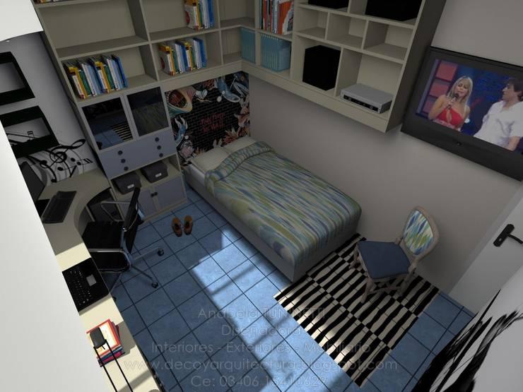 Dormitorio masculino - Proyecto:  de estilo  por Anabela Tuninetti - Deco & Vanguardia,