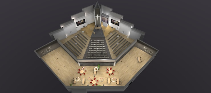 modernisering kerk :  Evenementenlocaties door AP-Interieurarchitect, Modern