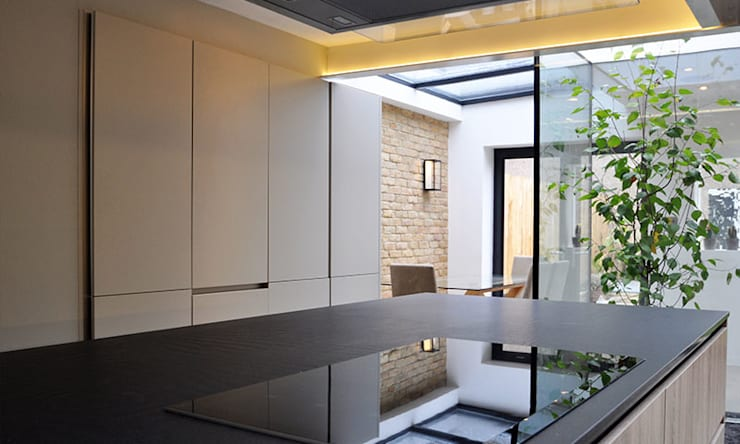 The Courtyard House :  Kitchen by Space Group Architects