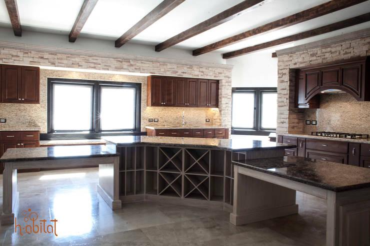 Cava: Cocina de estilo  por H-abitat Diseño & Interiores