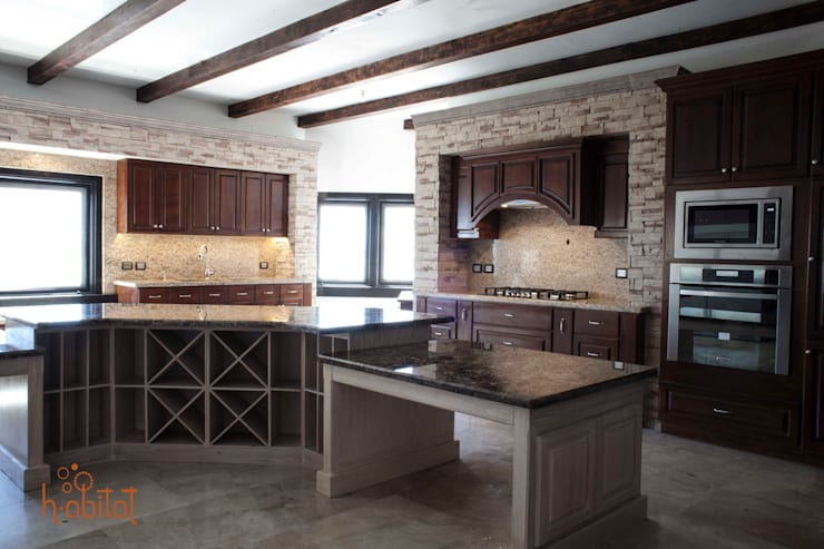 Desayunador : Cavas de estilo  por H-abitat Diseño & Interiores