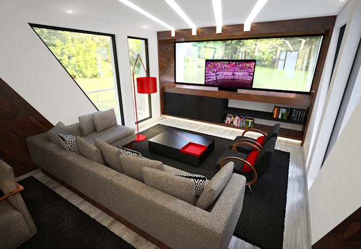 Sala de Estar: Salas de estar  por Tiago Martins - 3D