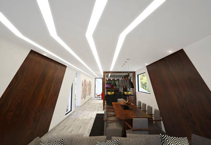 Sala de Jantar: Salas de jantar  por Tiago Martins - 3D