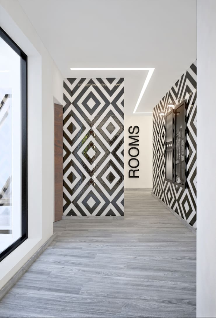 Corredor: Corredores e halls de entrada  por Tiago Martins - 3D